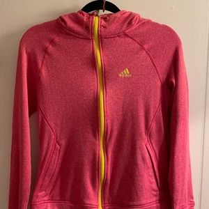 Adidas Climawarm Pink & Yellow Ultimate Hoodie